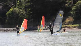 Pautahunui Inlet is great for learning to windsurf
