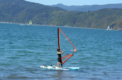 Kids from as young as 6 can try windsurfing